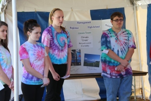 The Narragansett Regional High School team gives their Current Issue presentation.