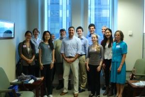 Members of the Newton North team meet with Secretary Beaton 8/21/15